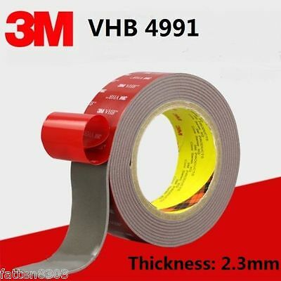 3M VHB 4991 Gray Double-sided Acrylic Foam Tape length 3 Meter * Thickness 2.3mm 3 Meter Vhb Double Sided Tape
