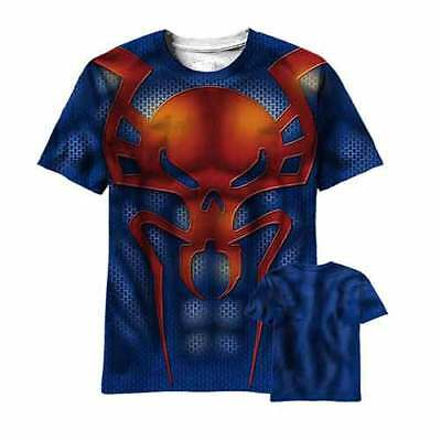 Marvel Ultimate New Spider-Man 2099 Sublimated Costume T-Shirt New  - Spider Man Costume T Shirt