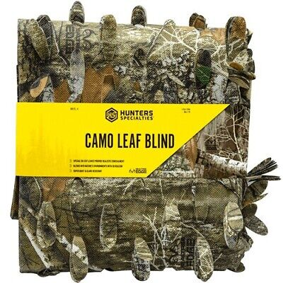 Hunters Specialties 100123 Leaf Edge Camo Hunting Blind Treestand Camo Material Leaf Blind Material