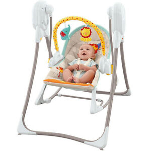 Baby three-in-one safari swing and jolly jumper with mat