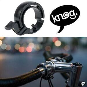 NEW KNOG ALUMINUM BIKE BELL LARGE 11980 250020726 BLACK BICYCLE CYCLING