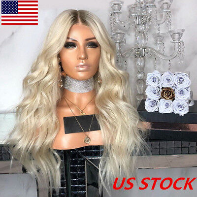 - US High-temperature Silk Chemical Fiber Hair Golden Gradient Long Curly Wig New