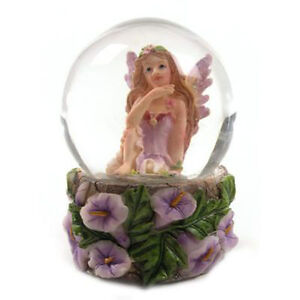 Beautiful Mini Flower Fairy Snow Globe Waterball, 4 Pretty Colours