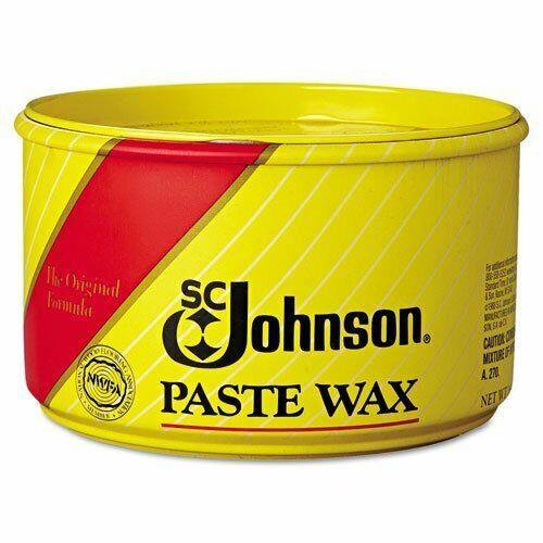 SC Johnson Paste Wax, Multi-Purpose Floor Protector, 16 oz. Tub - six...