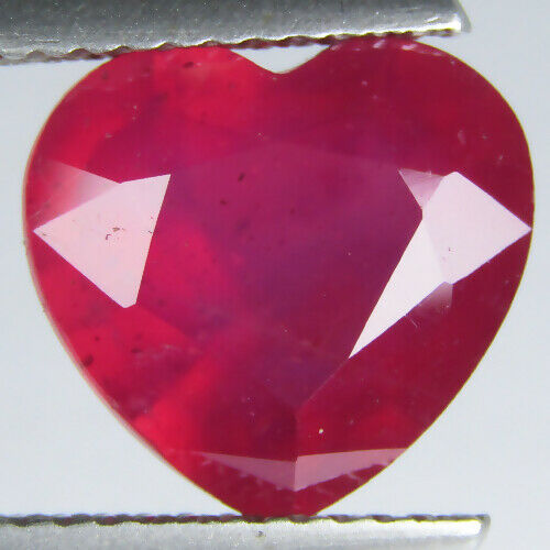 4.75CTS EXCELLENT HEART SHAPE NATURAL AFRICA RUBY 9.7x10.3MM LOOSE GEMSTONE