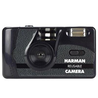 Ilford Harman 35mm Reusable Flash Film Camera with 2 Rolls of Kentmere Film i