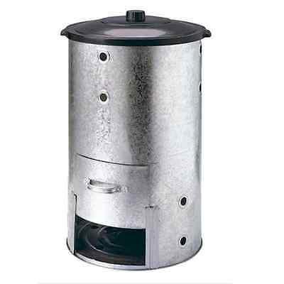 Large Round Galvanised Steel Organic Garden Composter Metal Waste Converter Bin