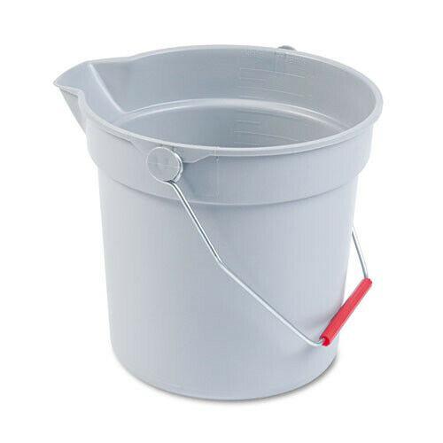 Rubbermaid 10 Qt. Plastic Utility Pail (Gray) 296300GY New