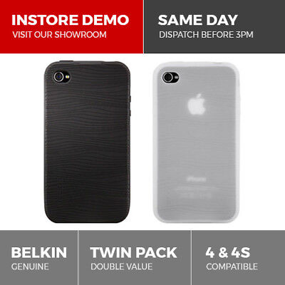 Belkin Quality 2-Pack Silicone Sleeve Case for iPhone 4 & 4S Cover Skin Grip Duo Iphone Skin Pack