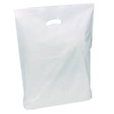 500 White Budget Patch Handle Carrier Bags 15