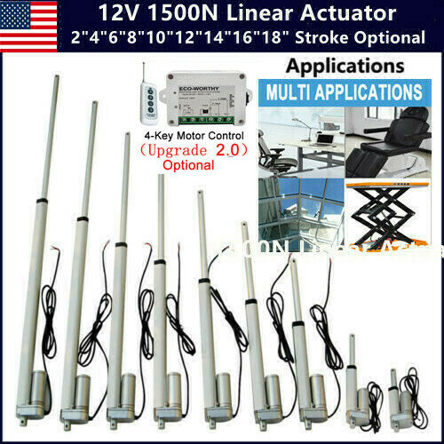 Linear Actuator 1500N 12V DC Electric Motor Max Load 150KG for Auto Door Lifting