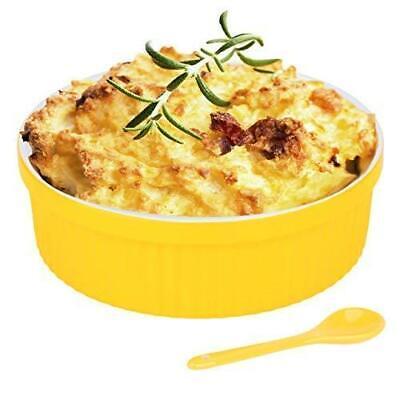 Souffle Dish Ramekins for Baking – 32 Oz, 1 Quart Large Ceramic Oven Safe Round