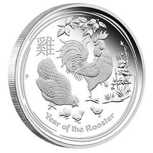 1 Kilo Kg Pièce Argent Silver Perth Mint Year Rooster Coin 2017