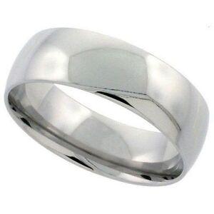 BAGUE-ANNEAU-ALLIANCE-MARIAGE-HOMME-FEMME-ACIER-INOXYDABLE-NEUVE ...