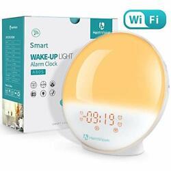 Smart Digital Alarm Clock with Sunset Simulation, Alexa, FM Radio/Natural Sounds