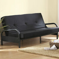 BN in Box! BLACK METAL futon couch Sofa Chaise Bed $100 SAVINGS
