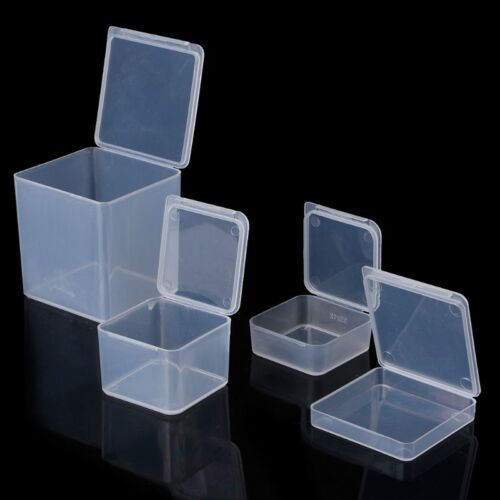 Small Clear Square Plastic Jewelry Storage Boxes Beads Craft