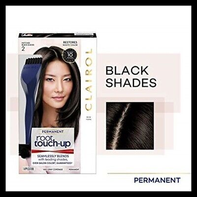 CLAIROL Root Touch-Up NICE 'N EASY Brush & Tray Hair Color # 2 BLACK ()