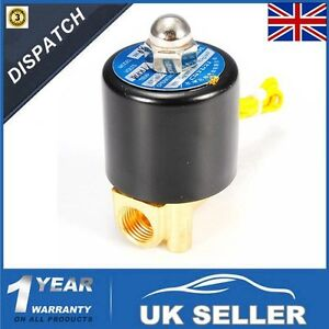 1/4'' DC 12V Electric Solenoid Valve Air Water Fuel Gas Brass Normal Closed N/C