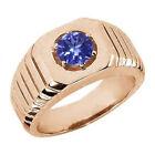 Tanzanite Rose Gold 18k Rings for Men