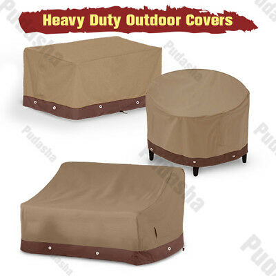 Patio Table Chair Covers - Waterproof Patio Furniture Cover Outdoor Table Chairs Bench Sofa Air Conditioner