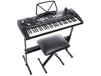 ALESIS 61 key Electric keyboard SET, inc stool, microhpone and stand + more