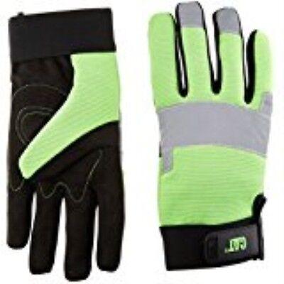 Cat Gloves Rainwear Boss Mfgcat012214l Largefluorescentgreen Spandex Back Glove