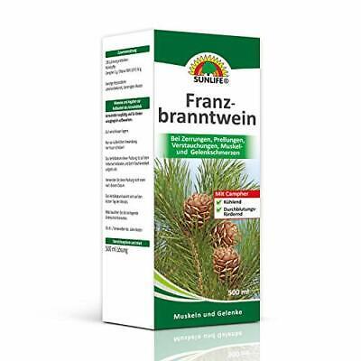 SUNLIFE Franzbranntwein mit Campher: durchblutungsfördernd und (1er Pack)