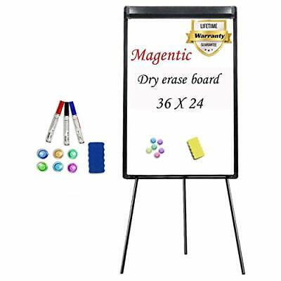 Stand White Board 36 X 24 Magnetic Dry Erase Board Tripod Easel Board Portabl...