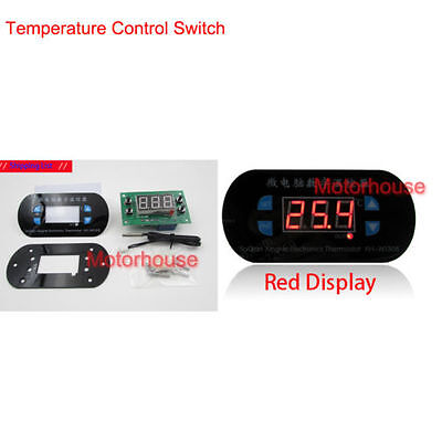 Dc 12v Digital Thermostat Temperature Alarm Controller Switch Sensor Meter Red