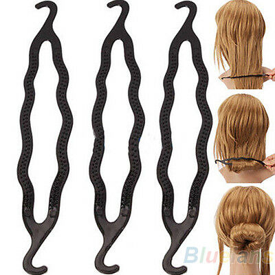 Fashion 5pcs Hair Twist Styling Clip Stick Bun Maker Braid Tool For Women Lady