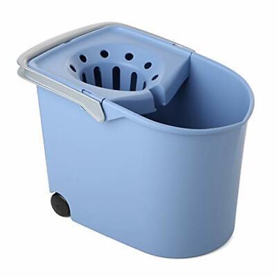 TATAY 1103200 - Cubo de Fregar graduado con Ruedas y Escurridor, (Azul)