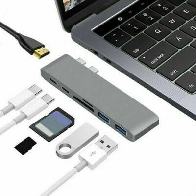 7 in 1 USB C Hub USB 3.1 Type C Adapter Dock Card Reader 4K