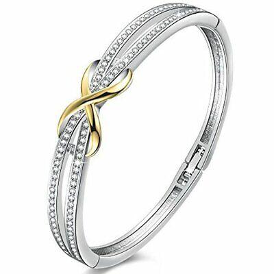 mamma bracciale a cuore bracciale per sempre Bracciale amore con strass regalo in cristallo per ragazze amante Bracciale bangle per donne