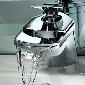mitigeur robinet cascade en laiton pour vasque lavabo salle de bain neuf ebay. Black Bedroom Furniture Sets. Home Design Ideas