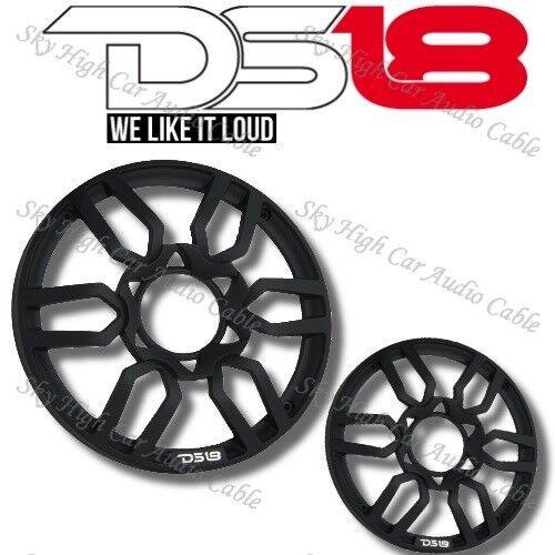 "DS18 PRO Universal 6.5"" Inch Plastic Speaker Grill Cover Black Set of 2"