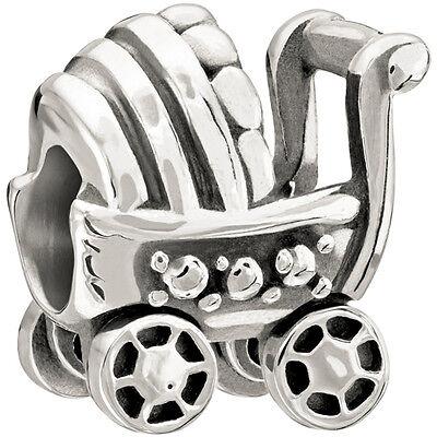 Chamilia Charms Kinderwagen mit bewegl. Rädern (2010-3083) Silber 925/-