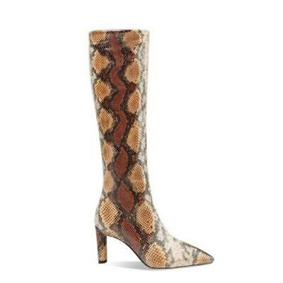 Details about  /Women Party Stilettos High Heel Snakeskin Print Ankle Boots Pointy Toe 35//45 L