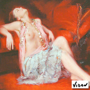 'Restful Recline' Limited Edition Giclee on Art Paper By Vidan Strathcona County Edmonton Area image 1