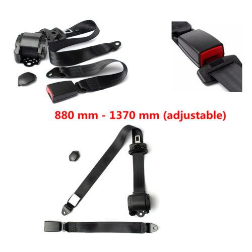 Universal Adjustable 3 Point Seat Belt Lap Diagonal Belt for Car Security Seat
