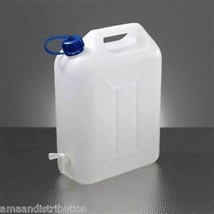 WATER STORAGE CONTAINERS 20L LTR LITRE CARRIER TAP SPOUT FOOD GRADE JERRY CAN
