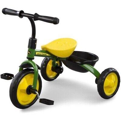 John Deere Steel Tricycle Green Outdoor Ride On Toy Bike Yard Kids Infant New  John Deere Tricycle