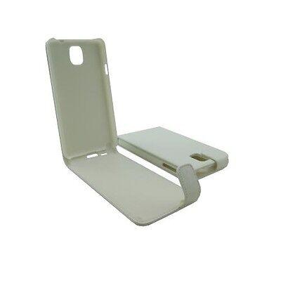 custodia eco pelle SAMSUNG SM-N9005 GALAXY NOTE 3 white