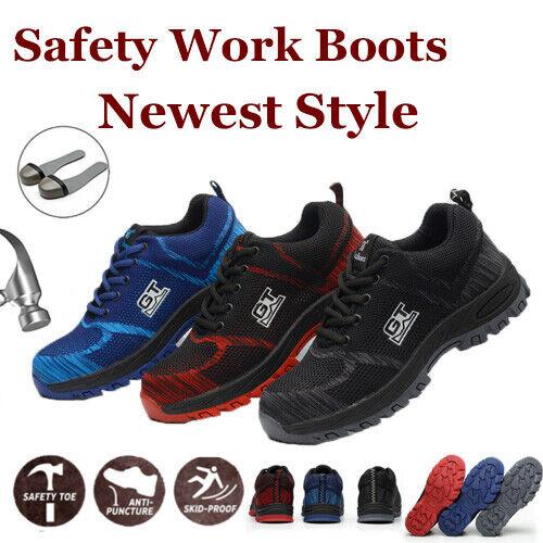 Arbeitsschuhe Sicherheitsschuhe S3 Schutzschuhe Bauschuhe Atmungsaktiv Bequem DE