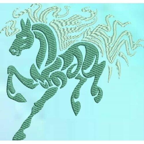 Embroidered Sweatshirt - Tribal Horse S2-10 Sizes S - XXL