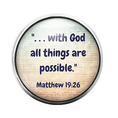 All things are possible - 18MM Glass Dome Candy Snap Charm GD0253 - Candy Charm
