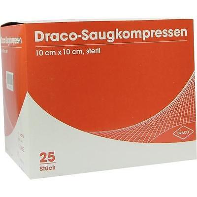 SAUGKOMPRESSEN steril 10x10cm Draco 25St Kompressen PZN 1687275