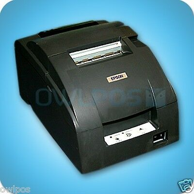 Micros Epson Tm-u220d Impact Receipt Printer Idn Ports Dark Gray Refurb M188d