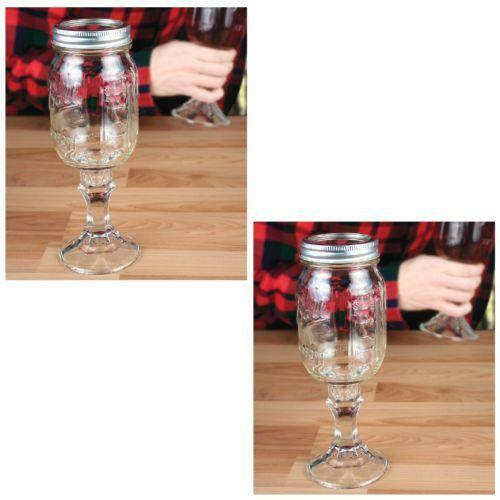 Mason jar wine glass ebay - Mason jar goblets ...