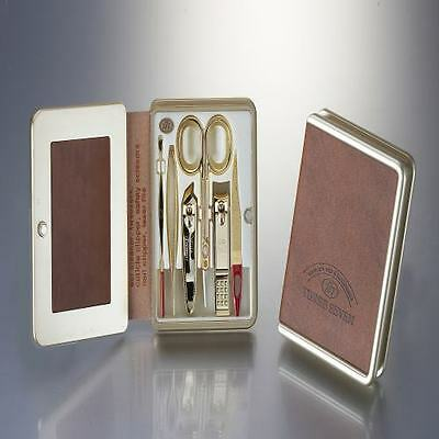 Three Seven 777 Travel Manicure Pedicure Grooming Set,TS-5300G(Gold)